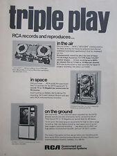 7/1972 PUB RCA RECORDER ADVISER AIR GROUND SPACE ERTS SATELLITE ORIGINAL AD
