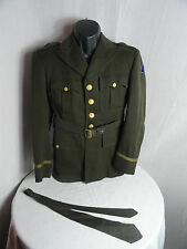 WW2 American US Army 10 th Armoured Division Officers Tunic / Jacket Uniform