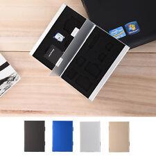 3Colors Metal Aluminum SD TF CF Memory Card Storage Box Protective Holder Case