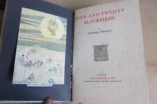 Edward Thomas. Four and Twenty Blackbirds, 1915, First edition, colour frontis.