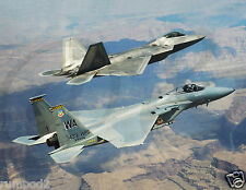 Jet Plane/Millitary Fighter Jet Poster/ F-22A Raptor and F-15C Eagle/17x22 inch