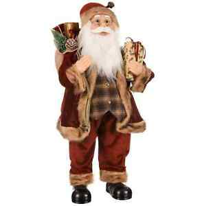 Giant Woodland Santa Ideal For Bringing Some Christmas Cheer To Your Home - 80cm