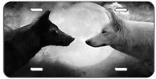 CUSTOM LICENSE PLATE BLACK AND WHITE WOLVES AUTO TAG