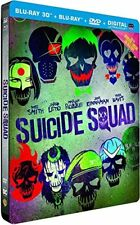 Suicide Squad 3D Steelbook  Includes 2D Extended Version Blu Ray  DVD  Import