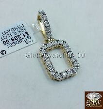 "Real 10k Gold & Diamond Letter ""O"" Initial Alphabet Charm/Pendant 1.5"", Angel."