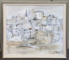 """Rare Gino Hollander Abstract Painting """"Pueblo"""" Signed by Artist Fine Artwork"""