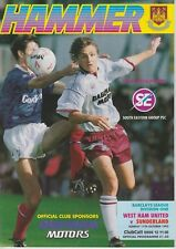 WEST HAM FOOTBALL PROGRAMMES 1992-93 ~ YOU CHOOSE OPPONENTS EXCELLENT CONDITION