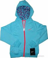 281f6c8931ff8 Nike Zip Up Jacket Hoodie Girls Dri-Fit Pool Blue Full Zipper Attached hood  Coat