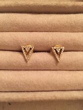 Bloomingdales collection Diamond Triangle Stud 14k Gold Earrings