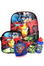 Marvel Avengers Assemble Kids Multi-color School Set BackPack Lunch Pencil Case