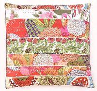 Vintage Kantha Patchwork Boho Cushion Cover Sofa Decor Cotton Pillow Case Indian