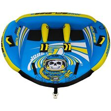 Jobe Eclipse 3 Person Towable WaterSki Tube Inflatable Biscuit