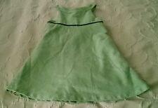 Girls Petit Patapon brand wool weave feel Jumper Dress size 116 5/6 green