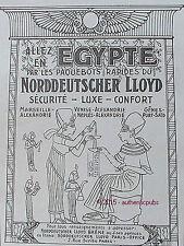 PUBLICITE PAQUEBOT NORDDEUTSCHER LLOYD EGYPTE PHARAONS DE 1929 FRENCH AD PUB