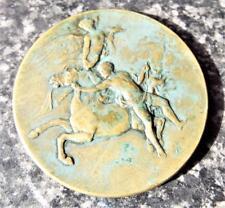 Cavallo Tamer & Vittoria alata antico 1906 egiziano HORSE SHOW Medaglione/MEDAGLIA