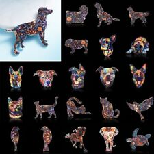Women Acrylic Printing Flower Animal Dog Cat Elephant Horse Brooch Pin Jewellery