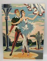 "Vintage 1956 Ballet PAINT-BY-NUMBER PAINTING 12"" X 16"" Ballerina Dancers PBN"