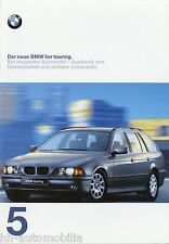 Prospekt BMW 5er Touring 1997 Autoprospekt 7 11 05 06 10 520i 523i 528i 540i 525