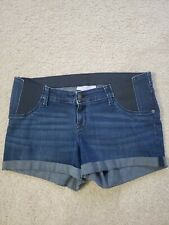 Isabel maternity by ingrid isabel Jean midi Shorts Size 8 Under Belly