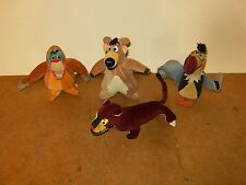 4 Anciennes peluches LIVRE DE LA JUNGLE disney 1966 - JAPAN - plush jungle book