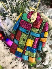 NIB Dolly Parton Coat of Many Colors Glass Christmas Ornament Dollywood Exclusve