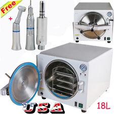 18L Medical Dental Steam Autoclave Sterilizer Lab Sterilizer Equipment handpiece
