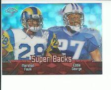 2000 TOPPS CHROME #TC8 MARSHALL FAULK+EDDIE GEORGE SUPER BACKS REFRACTOR