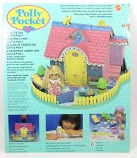 1994 Polly Pocket Vintage RARE Lucy & Pollys Dream Cottage Bluebird Toy COMPLETE