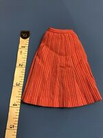 ❤ #1653 Vintage Barbie International Fair Skirt, EUC, tagged Red White Pleated
