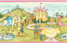 Waverly for Kids Fairy Tale Wallpaper Border Princess Castle Unicorn Pink Girls