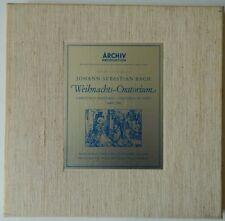 Bach WEIHNACHTS ORATORIUM Janowitz Ludwig Richter Christmas EX DGG Archiv 3x LP