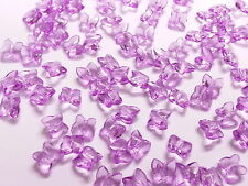 100 LILAC Acrylic Crystal Butterflies for Wedding Table Decoration, Confetti