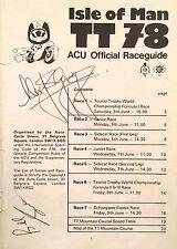 TT especial: Alex George y W.A. (Bill) Smith autógrafos TT 1978