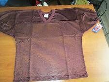 Nwt $25 Adams Usa Fb Youth Mesh Jersey With Elastic Sleeve Large Maroon