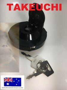 1552100500 15521-00500 Fuel Cap & Keys Fits Takeuchi Excavators & Track Loaders