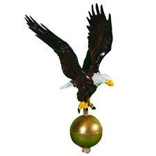 Flagpole Eagle Topper American Flag Pole Bald Patriotic USA Hand Made Finial NEW