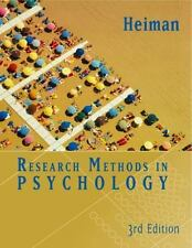 Research Methods in Psychology, Gary W. Heiman, Good Condition, Book