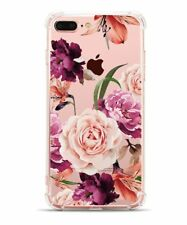 iPhone 8 Plus Case, iPhone 7 Plus Case with flowers, Hepix Clear Floral Pattern