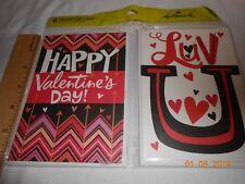 New lot 6 Hallmark Valentine's Day Greeting cards w/ envelopes Luv U Hearts FS