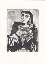 PABLO PICASSO original old Etching Lithograph