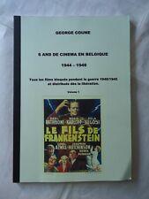 6 ANS DE CINEMA EN BELGIQUE/1944-1949/belgian fanzine