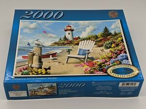 Master Pieces 2000 Piece Daydream Jigsaw Puzzle Lighthouse Beach Seagull Boat