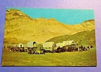 Western Wagon Train  Vintage Old Postcard PC4303