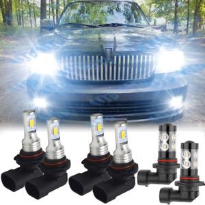 For Lincoln Navigator 2003-2006 LED Headlight + Fog Light Combo 6x 6000K Bulbs
