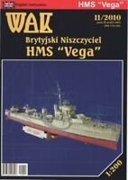 "GENUINE PAPER-CARD MODEL KIT- HMS ""VEGA"""