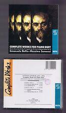 DVORAK BOX 2 CDS COMPLETE WORKS FOR PIANO DUET/ EMANUELA BELLIO/ MASSIMO SOMENZI