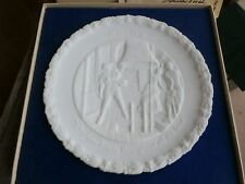 Vintage Fenton Bicentennial Collector Plate Portrait of Liberty Patriot 1976