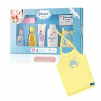 Johnson's baby Care Collection + Organic Cotton Baby T-Shirt Gift Set 7 Pieces S
