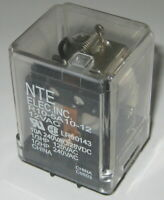 120 / 240 V AC - 10 A SPDT See Through NTE Relay - 12 VAC Coil - 28VDC 10A