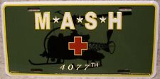 Aluminum Military License Plate 4077th MASH Mobil Army Surgical Hospital NEW